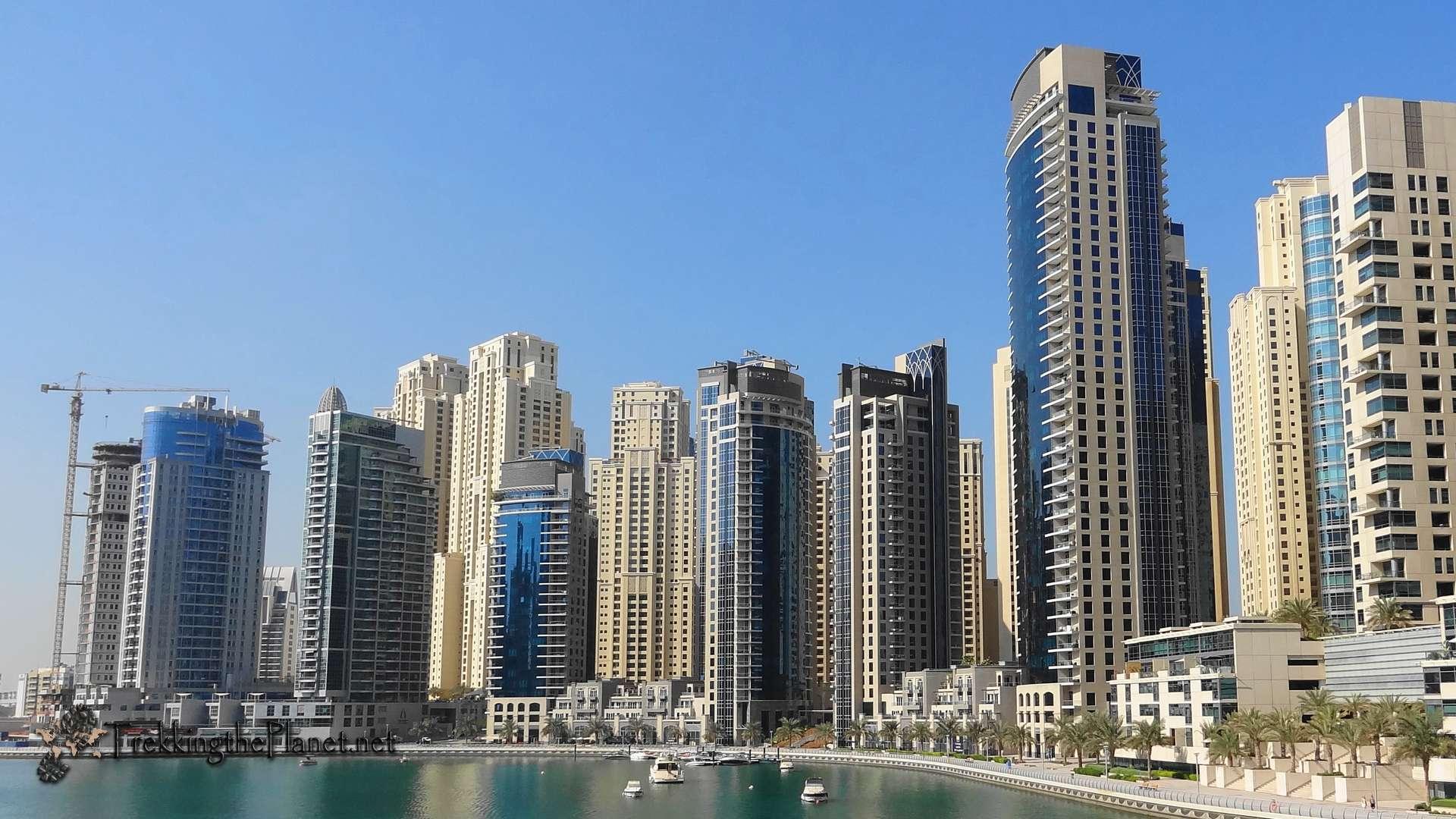 Dubai Marina At Night HD Mobile Wallpaper Vactual Papers