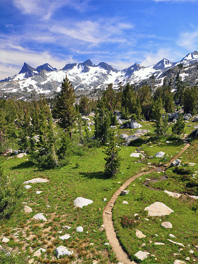 Ansel Adams Wilderness, California - by Steve Dunleavy from Lake Tahoe, NV, United States (Uploaded by Hike395, CC BY 2.0) https://commons.wikimedia.org/w/index.php?curid=22262608