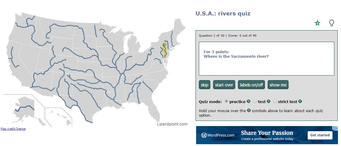 Tuesday Quiz: Rivers of the United States – Trekking the Planet